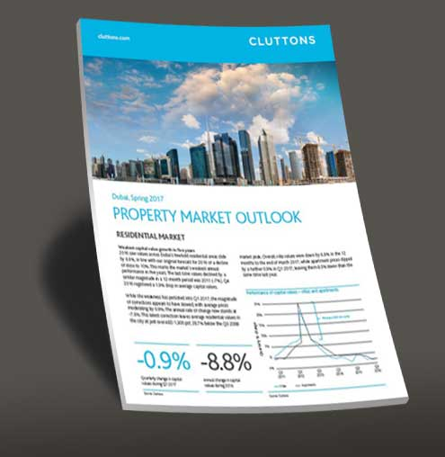 Dubai property market outlook 2017 cluttons free report from global property guide